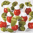 Ubrousek 33x33cm - Red, white, green