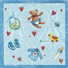 Ubrousek Moments 33x33cm - Baby`s world Blue