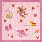 Ubrousek Moments 33x33cm - Baby`s world Rose